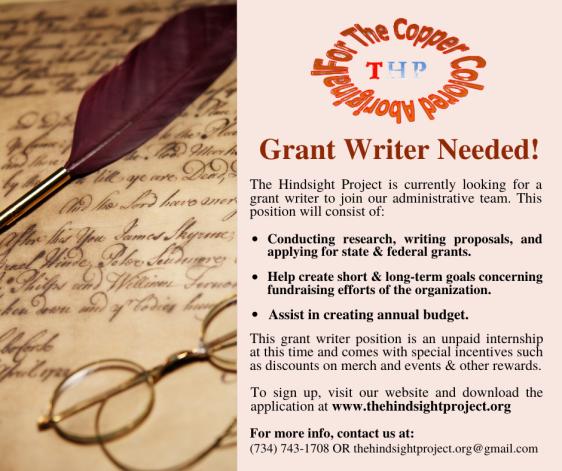 THP Grant Writer Ad